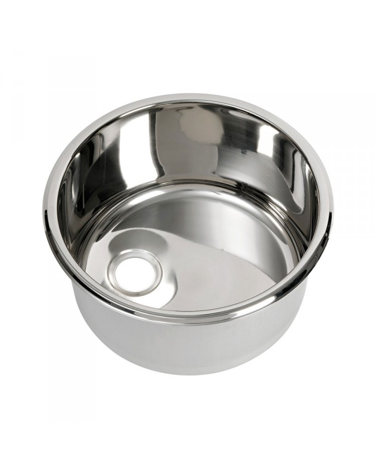 Evier Inox Rond O300 Mm H 180 Mm 50 187 36