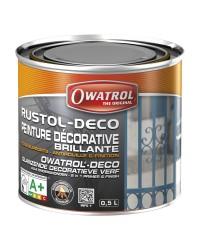 Peinture antirouille RUSTOL-DECO - Gris Foncé - 0.5 litre