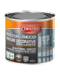 Peinture antirouille RUSTOL-DECO - Marron - 0.5 litre