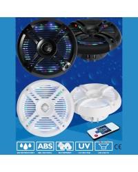 Haut parleur GROOVE - la paire - 120 W - blanc - avec LED mulicolore