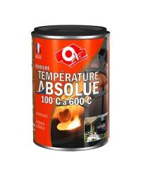 Peinture haute température - noir satin - 125 ml