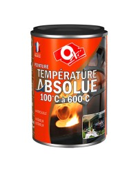 Peinture haute température - noir satin - 250 ml
