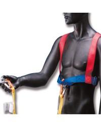 Harnais réglable avec longe 2 mousquetons - Torse de 80 à 130 cm