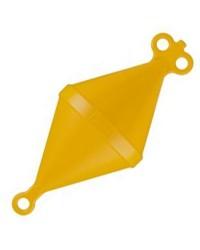 Bouée de corps mort bi-conique - Ø 220 mm - jaune