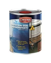 Protection bois antidérapante OWATROL ATG - Teck clair - 2.5 litres