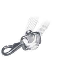 Mousqueton avec boucle - inox - 20 mm