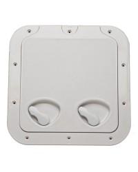Porte d'équipet ABS anti UV vis apparentes - 370 x 375 mm