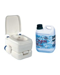 Pack WC chimique BIPOT 39 + 1 litre de liquide WC