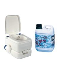 Pack WC chimique BIPOT 30 + 1 litre de liquide WC