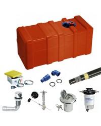 Pack réservoir carburant 140L et accessoires - installation moteur essence