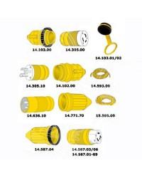 Câble électrique - 3 x 10 mm² - jaune - 50M