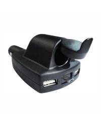 Adaptateur pour USB - double prise USB et micro USB rétractable - 8 A maximum