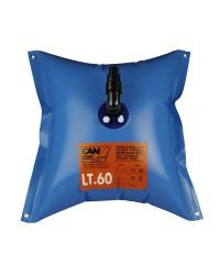 Réservoir d'eau douce souple elastomère - 100 litres - 73x88 cm