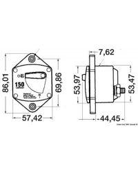 Disjoncteur magnéto-thermique encastrable USA - 50A