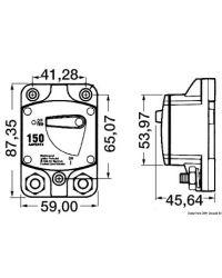 Disjoncteur magnéto-thermique saillie USA - 150A
