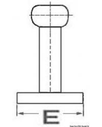 Taquet taraudé Nordik inox 310 mm