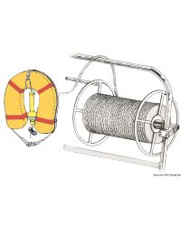 Enrouleur de cordage en inox poli