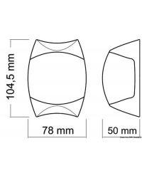 Feu de navigation Sphera II bicolor corp ABS blanc