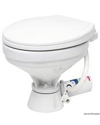 WC électrique - lunette large PVC blanc - 12 V