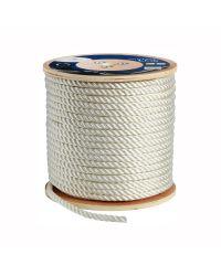 Cordage polyester amarrage 3 torons - blanc - ø8 mm - 200M