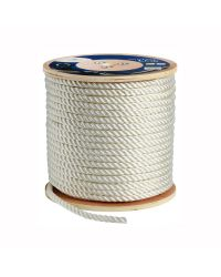 Cordage polyester amarrage 3 torons - blanc - ø12 mm - 200M