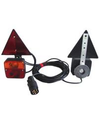 Kit de feux de remorque magnétiques avec triangles réfléchis