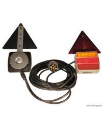 Kit de feux de remorque à LED - 12-24V - magnétique avec tri