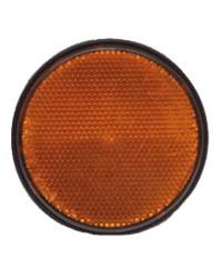 Catadioptre - orange - ø60 mm - adhésif