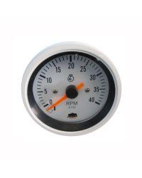 Afficheur compte-tours diesel 0-4000 RPM - G Line - Ø 84 mm - blanc
