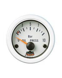 Afficheur pression d'huile avec capteur - G Line - Ø 52 mm - blanc
