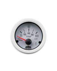 Afficheur température hors-bord 20-100 ohms - G Line - Ø 52 mm - blanc