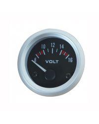 Afficheur voltmètre - Ecoline - Ø 52 mm - Fond noir