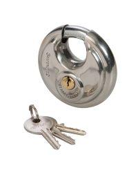 Cadenas circulaire en inox - 70 mm - à clé