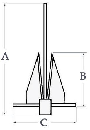 Ancre type Danforth acier