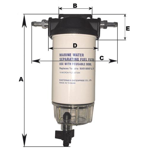 Filtre essence avec décanteur 200 l/h