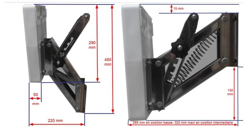 Chaise moteur inox relevable 15CV