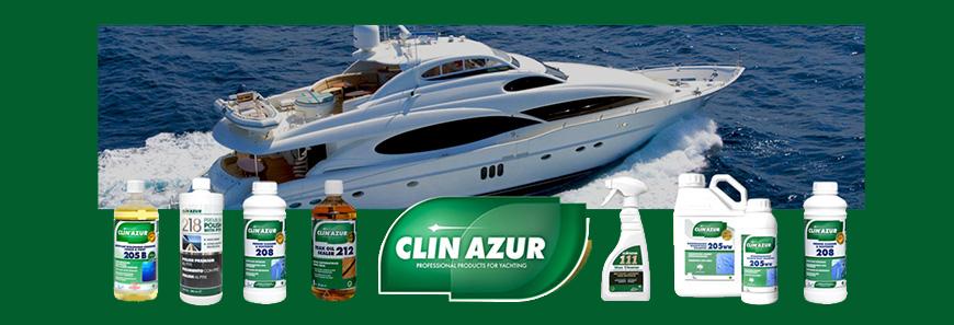 Gamme produits d'entretien Clin Azur